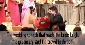 The Most Amazing Speech To His Soon To Be Son