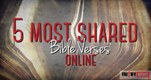 5 Most Shared Bible Verses Online