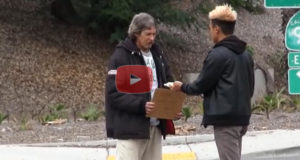 He Gave A Homeless Man $100 And Then Followed Him