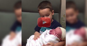 Big Brother's Reaction to Meeting Baby Brother for the First Time