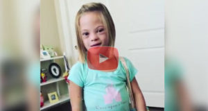 Adorable LIttle Girl With Down Syndrome