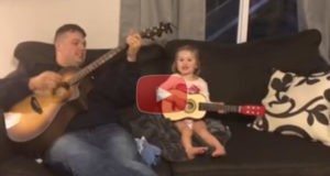 A Daddy-Daughter Duet Singing 'You are my Sunshine' Will Give You a Good Smile